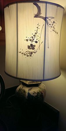 Asian lamp and shade