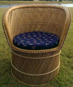 Mid-Century woven chair