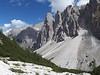 Massive debris cones are found throughout the Dolomites, due to erosion.