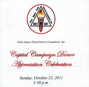 Delta Sigma Theta Capital Campaign Donor Appreciation Celebration   October 23 2011