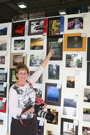 Carol Cox, first place winner in the color scenic category (top photo).  Delta Fair photo contest 2011.
