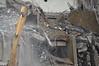Room 206 window showing below the boom of the excavator.