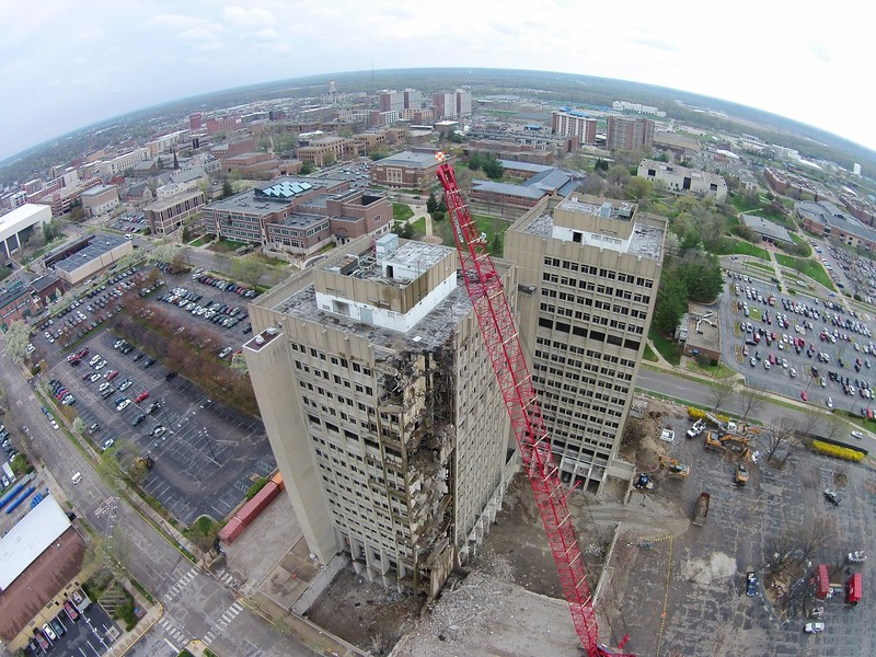 This picture is compliments BRENDAN KEARNS from his drone flying above the Statesman Towers.