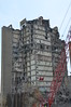 Close up of Day 5 progress - most of the east face is missing and they have begun on the inner core of the building.