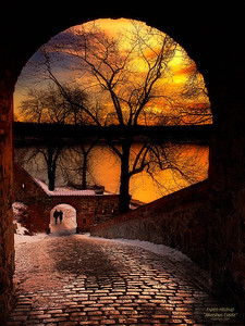 Sunset at Akershus Castle in Oslo