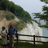 Tourists at Moen Cliffs.  Mom & Que