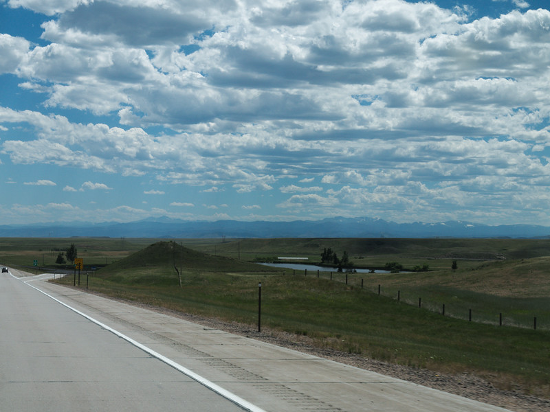 Entering Colorado, Rocky Mountains in the distance