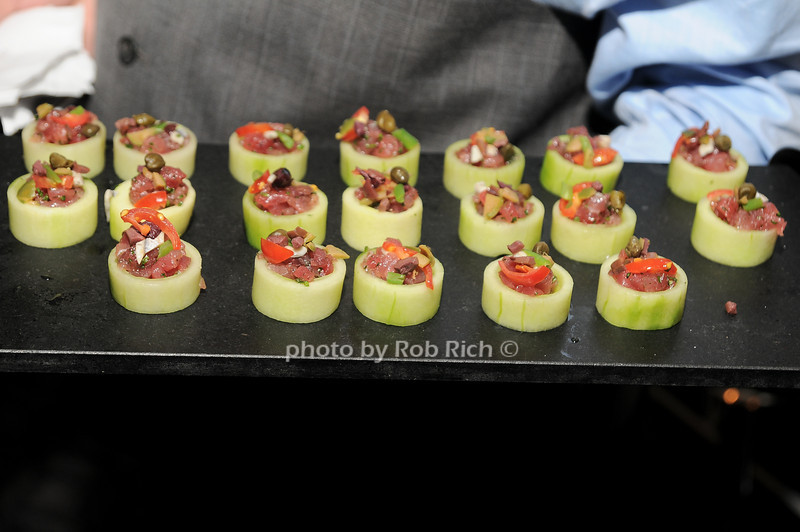 Cafe Boulud canapes<br /> photo by Rob Rich © 2010 robwayne1@aol.com 516-676-3939