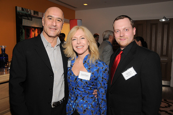 guest, Patricia Higgins, Chris Olshan<br /> photo by Rob Rich © 2009 robwayne1@aol.com 516-676-3939