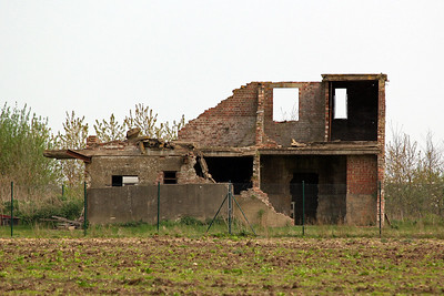 The remains of the Watch Office or control tower at RAF Metheringham, now in private hands. It was built with bricks to a 2 storey design with a balcony and flat observation roof, the tower contained accommodation for the Met office, signals office, crew rest rooms, a watch office and the control room where instructions to the aircraft were passed. RAF Metheringham was opened in October 1943 with 106 Sqn flying Lancasters being the only squadron based here. It closed in May 1946.