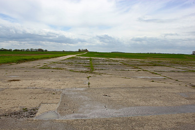 Looking down runway 19 we see that most of the concrete has been removed leaving just a small section of the former runway. RAF Desborough opened on 1 September 1943 and closed in 1946. It spent its time as a training airfield.
