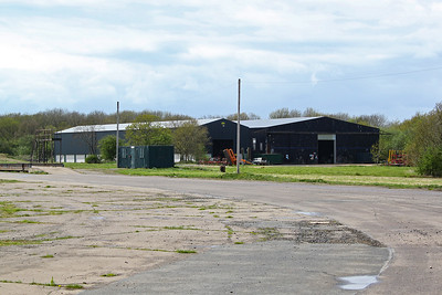A closer look at the two hangars, at least five remain in use with the airfield site returned to agriculture and due to become a solar energy farm.