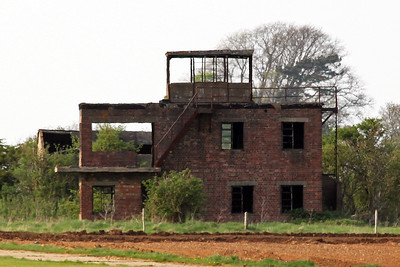 The only real remnant of RAF Coleby Grange is the former Watch Office now standing guard over fields. It is reputed to be haunted.