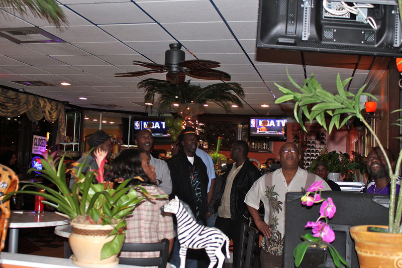 You can always catch the big game at Derrick's Jamaican Cuisine.