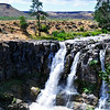 White River Falls.  White River is aptly named.  It drains the heavy glacial silt from the east side of Mt. Hood and deposits it into the Deschutes a few miles above Sherar's Bridge & Falls.
