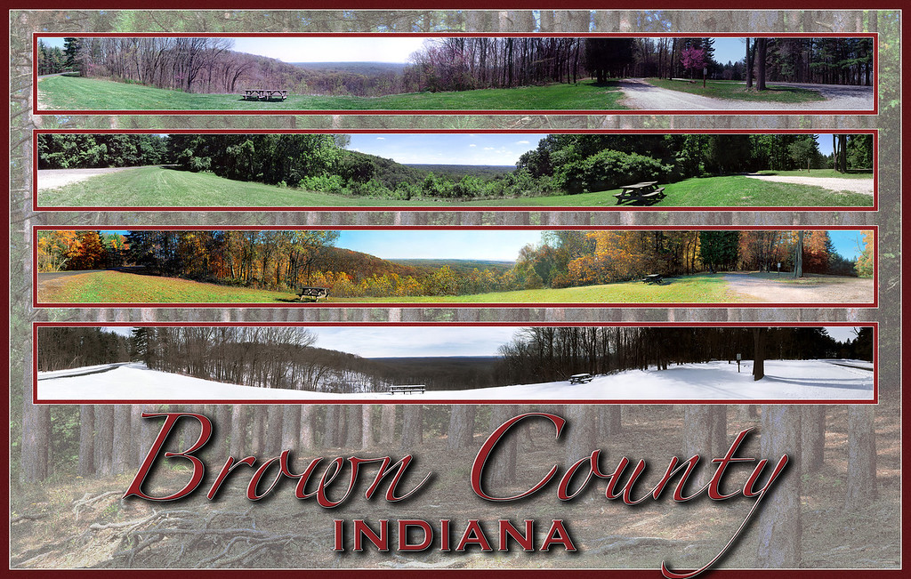 Brown County State Park Panorama Collage