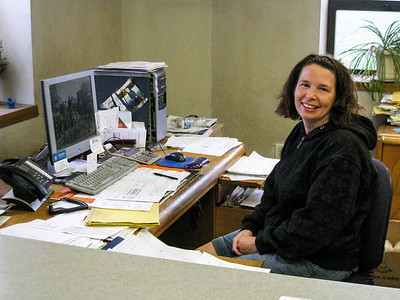 Sarah (Keskey) Rufer, office manager, of Design and Fabricating Inc.