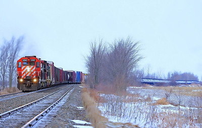 Montreal Maine & Atlantic # 2, Canadian Pacific Adirondack Subdivision, Qc  CP 5910 MM&A 758 CP 6043 MM&A 8208 3614