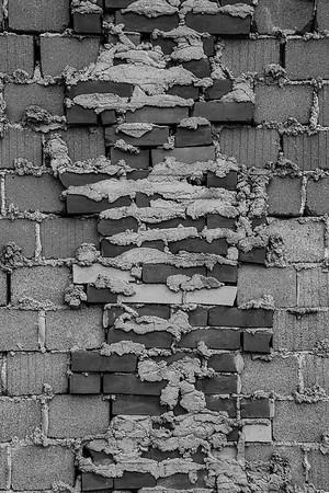 Exposed Block Wall Bricks 3