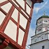 Fachwerhaus und Turm