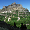 As you near Logan Pass, this view with Heavens Peak in right background