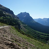 Going To The Sun Road leads down from Logan Pass and presents Going To The Sun Mountain as you wind your way to St. Mary Lake.