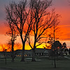 I was taking a photo of a spectacular rainbow in the northeast skies, and when I turned away, I saw this equally spectacular sunset illuminating the southwest behind the Walla Walla Country Club.  By Dicksie