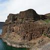 Basalt cliffs plunge 300-400 feet into Banks Lake.