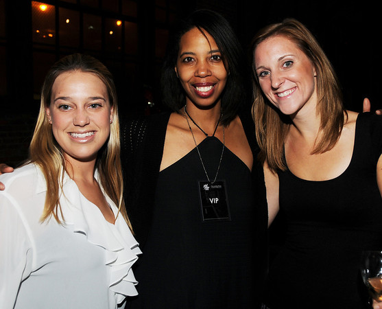 Danielle Cormier, PR Max Brenner, designer Crissy Phillips, and Gillian Kocher, Alex's Lemonade PR.  Later in the evening their was a party with the Wilhelmina Models and guest at Max Brenner.