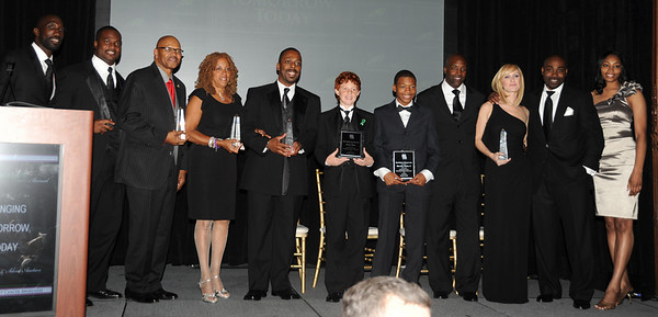 Ike Reese, Chairman/CEO of MMCS Bobby A. McRae II, All the honorees: Community Impact Award: Thomas Tapeh former Philadelphia Eagles Player<br /> Barette Vance, Brian Westbrook Achievement Awards: Hacker Wilson III and Theodore Winsley II,  The Janis and Stephen Goodman Soloist Dancer- Pennsylvania Ballet<br /> Civic Leadership Award: Samuel Staten, Jr. President of Local #332, Eddie Fennell Producer Clear Channel Radio, Pastor Theodore Winsley, and guests.