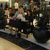 """The night was a fun success with friends, family and fashionista's enjoying the sights, sounds and sales throughout the complex.  I found the mother daughter duo Rachel and Roslyn Rothfeld checking out the FNO schedule with their """"shopping passport"""" in hand."""