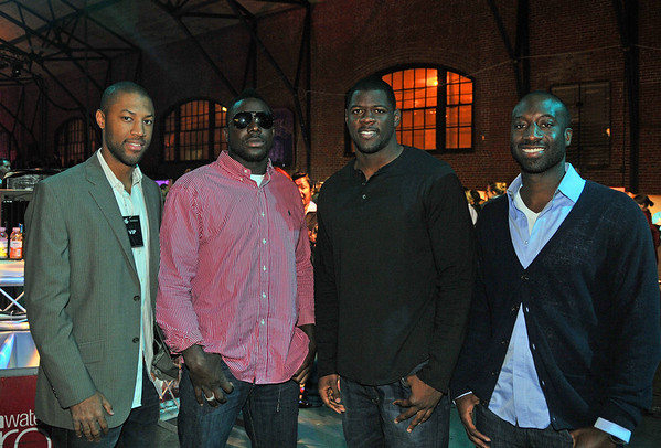 Reggie Berry, linebacker for the Philadelphia Eagles Moise Fokou, Cornelius Ingram, Jackiem Wright
