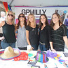 Vicky Lozens, Jenn Sheckley, Maureen Kelodzeiz, Staci Valocchi and Kim McDevitt refused to put on any of the fun hats for my photo but were able to manage a few of the props on the heads of party goers for the new issue of Philadelphia Magazine's G Philly, which highlights news going on in the gay community.