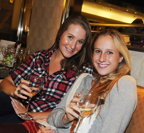 Danielle Petersen and Ashley Adams exhausted after shopping rest on their laurels at Tiffany's. Should I have carded them?