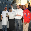 As did the judges as it won the grand prize as the best cheese steak in the First Annual Square 1682's Cheese Steak Contest. The people's favorite ended in a tie withDavid Boyle, Davio's, and Guillermo Tellez, Square 1682. Overall winner Peter Woosley, Bistrot La Minette, and Mayor Nutter.