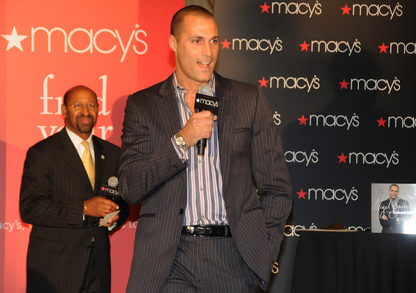 """America's Next Top Model Judge and world famous fashion photographer, Nigel Barker. Even the Mayor Nutter came out to introduce the popular judge, who was also here to promote his new book """"Beauty Equation: Revealing a Better and More Beautiful You"""".  But first up he introduced the latest fall collections at Macy's."""