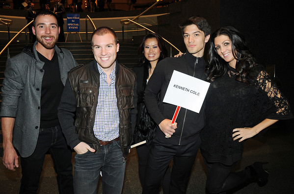 Erin Elmore (on right) with her fellow Kenneth Cole models.