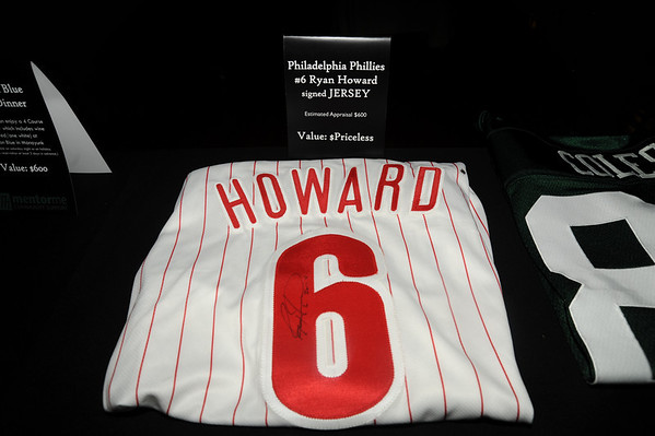 "This Ryan Howard signed jersey created a bidding war between two guys who bidded the price up to $2500, at which point David Neff, Neff PR, approached the podium and said ""I think someone in this room knows Ryan Howard and can get him to sign another jersey and we can donate $5,000 to Mentor Me."" Good idea, and the auction was well on it's way to making their $10.000 goal for the event. <a href=""http://www.mentormecs.com/about.html"">http://www.mentormecs.com/about.html</a>"