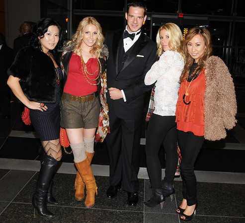 Janice Lim, the newly engaged Danielle Poe, Menzfit's Brian Lipstein, Stephanie Rybczyk and Heather Heo.  The girls are sporting South Moon Under clothing and walked in the Rittenhouse Row's Fall fashion show.