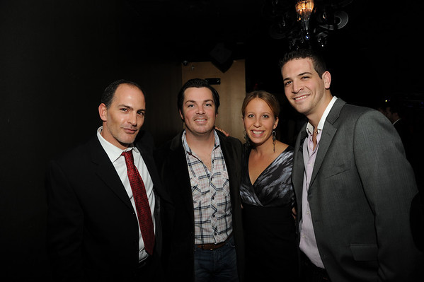 Dino Minelli, Chris and Tiffany Nork and Justin Fishman.  Chris Nork was expected to be the GM of Whisper, as he was of Denim, but with a marriage under his belt and family plans on the way he has a 9 - 5 & business trips in his future.  He told me that it's bittersweet leaving as Whisper has exceeded his expectations as a first class place to party and to work at. Good luck friend.