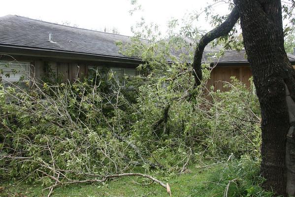 Diehl House Hurricane Ike Damage