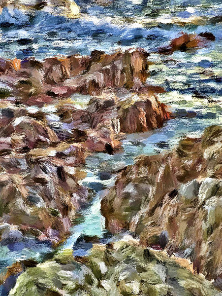 Rocks, Ocean, Cambria Ca