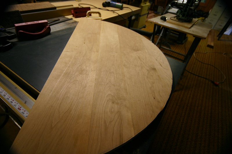 First table top cut complete