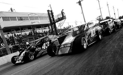 The Dirtcar 358 Asphalt Modified Series at the Dunn Tire Raceway Park in Lancaster, New York...