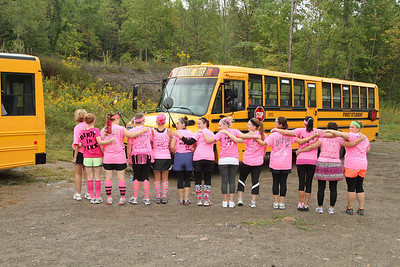 Dirty in Pink team at the 2012 Dirty Girls Breast Cancer Awareness event at Kissing Bridge Ski Resort