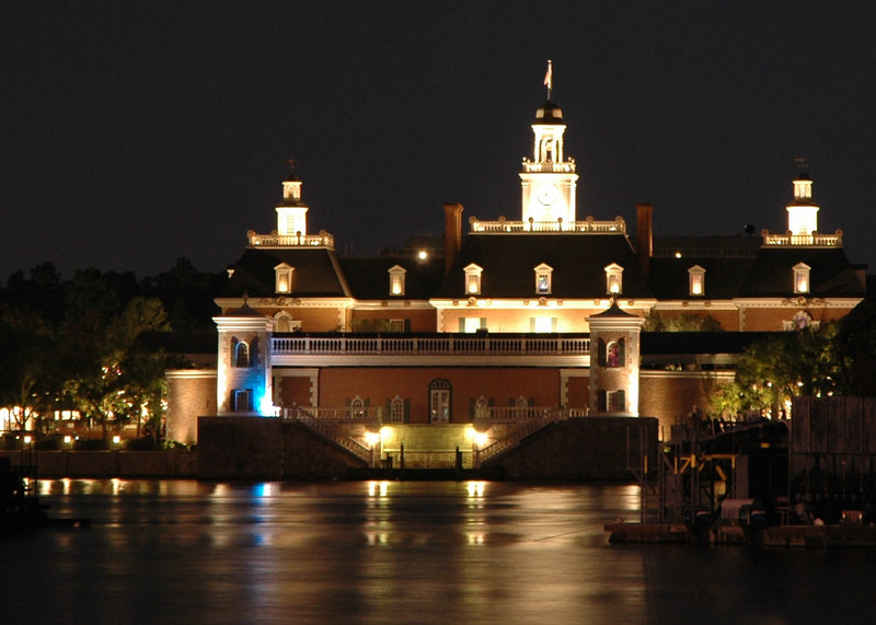 Epcot before the fireworks spectacular