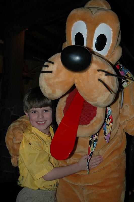 Zach with Pluto