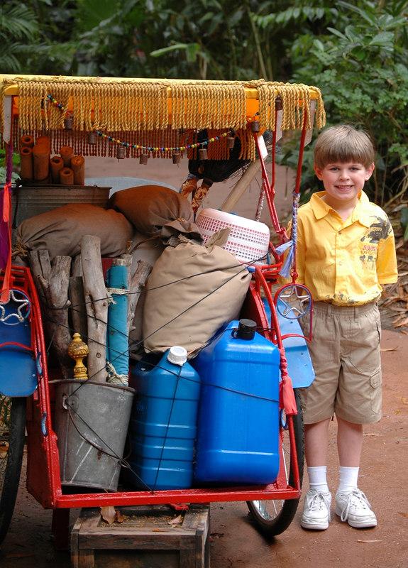 Zach in Asia at the Animal Kingdom