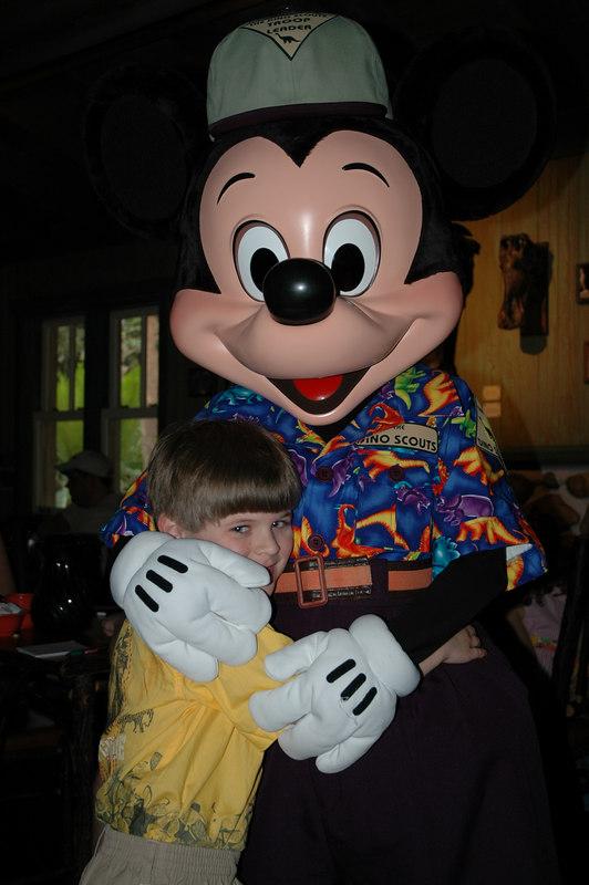 Zach with Mickey