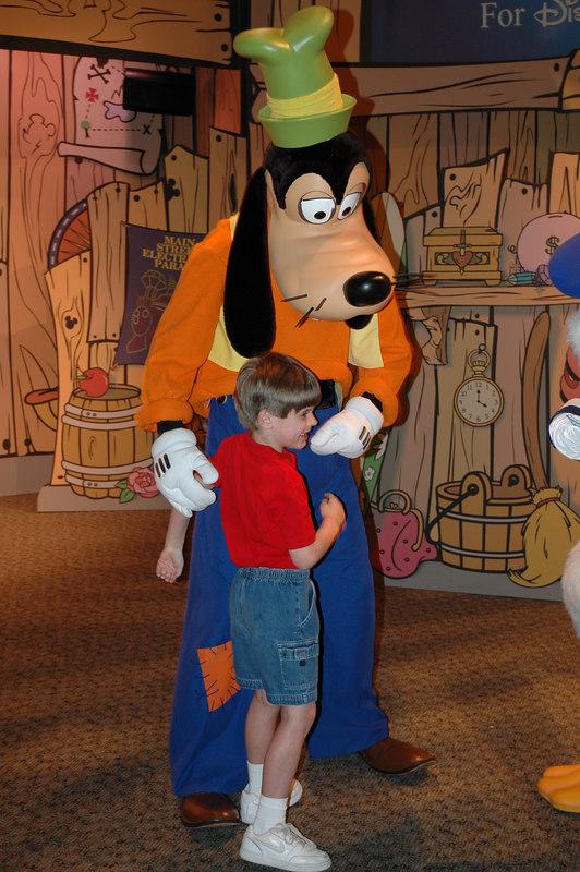 Zach with Goofy